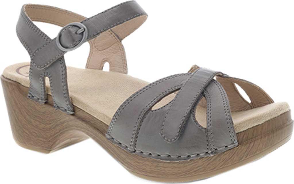 Women's Dansko Season Quarter Strap Sandal, Stone Burnished Calf, large, image 1