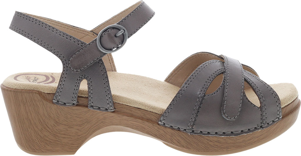 Women's Dansko Season Quarter Strap Sandal, Stone Burnished Calf, large, image 2