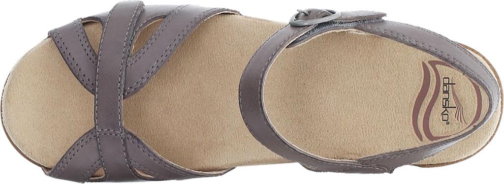 Women's Dansko Season Quarter Strap Sandal, Stone Burnished Calf, large, image 3
