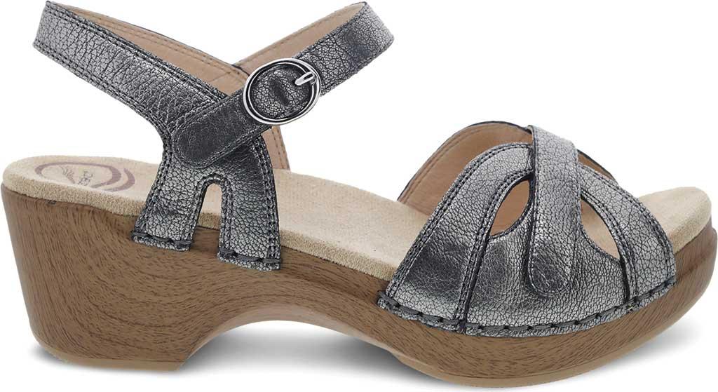 Women's Dansko Season Quarter Strap Sandal, Graphite Nappa, large, image 2