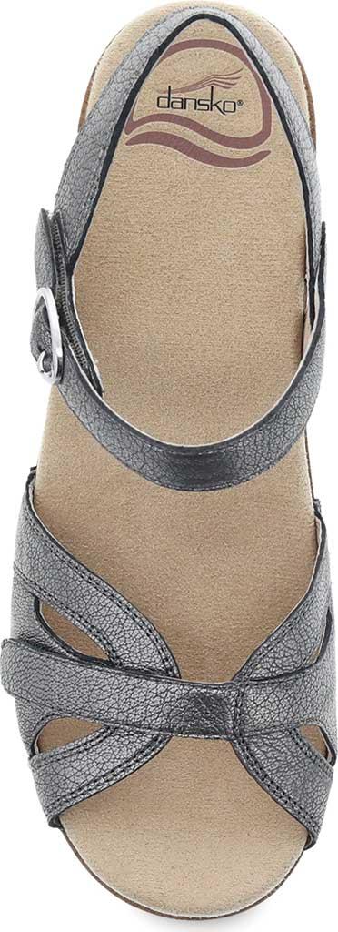 Women's Dansko Season Quarter Strap Sandal, Graphite Nappa, large, image 3