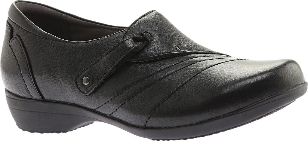 Women's Dansko Franny Slip On, Black Milled Nappa Leather, large, image 1