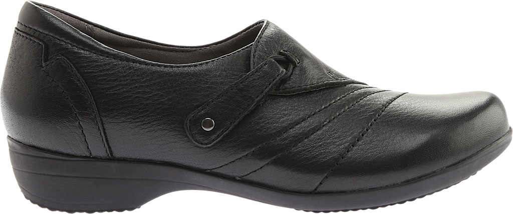 Women's Dansko Franny Slip On, Black Milled Nappa Leather, large, image 2