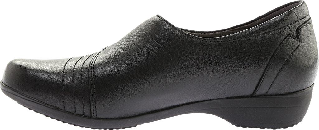 Women's Dansko Franny Slip On, Black Milled Nappa Leather, large, image 3