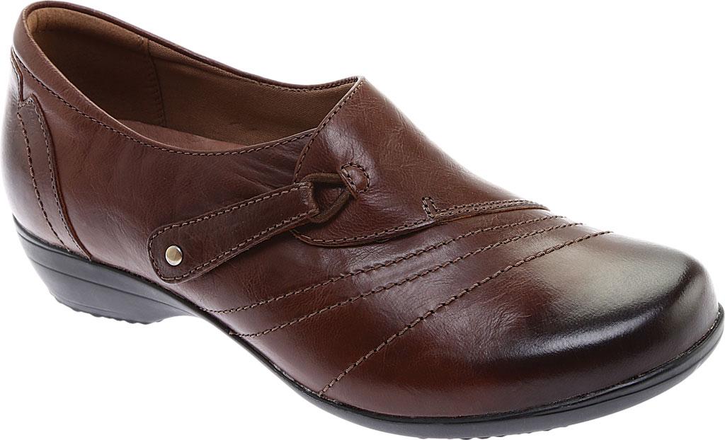 Women's Dansko Franny Slip On, Chocolate Burnished Calf, large, image 1