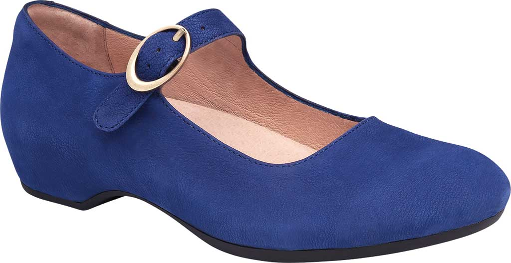 Women's Dansko Linette Mary Jane, Blue Milled Nubuck, large, image 1