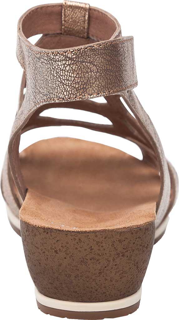 Women's Dansko Valentina Caged Sandal, Gold Nappa Leather, large, image 4