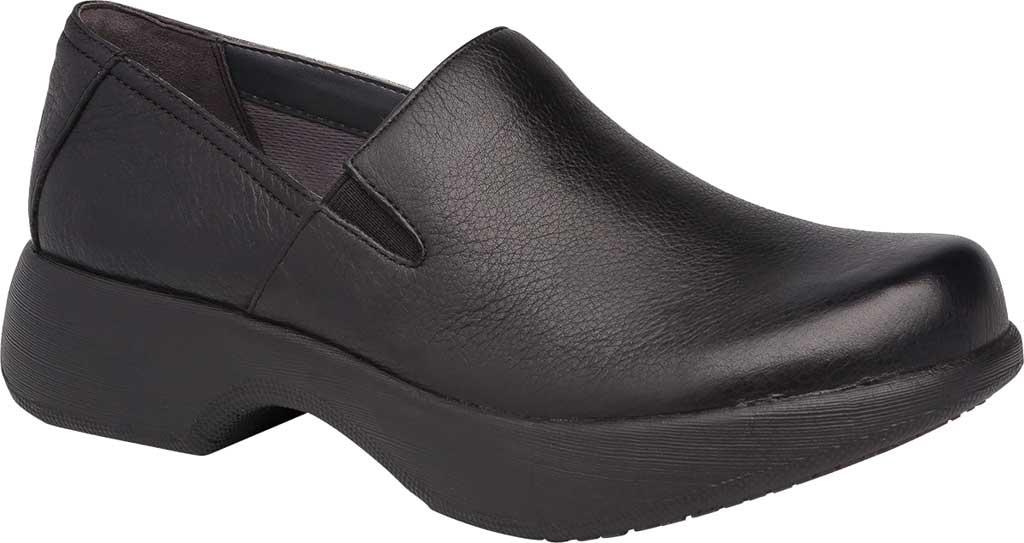 Women's Dansko Winona Closed Back Clog, Black Milled Nappa Leather, large, image 1