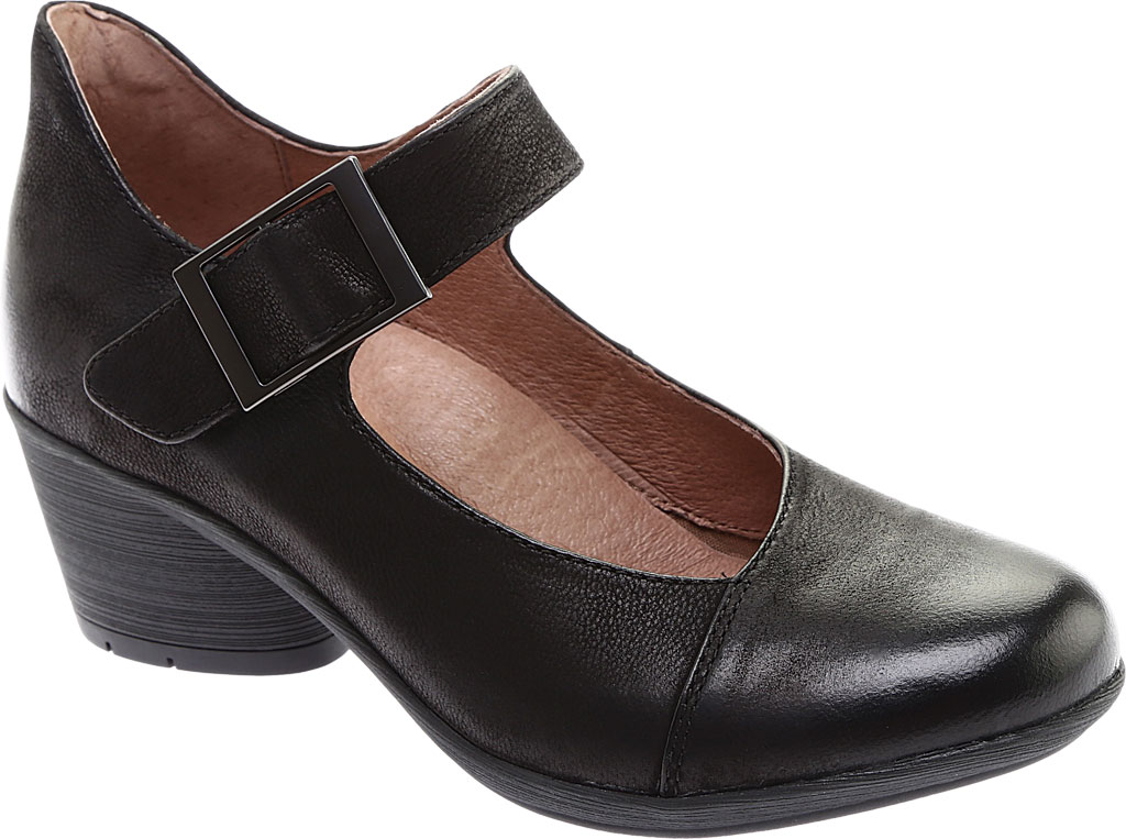 Women's Dansko Roxanne Mary Jane, Black Burnished Nubuck, large, image 1