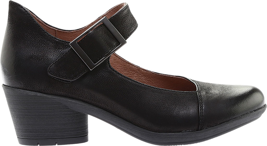 Women's Dansko Roxanne Mary Jane, Black Burnished Nubuck, large, image 2