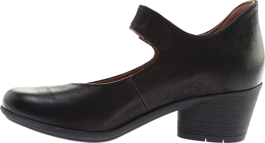 Women's Dansko Roxanne Mary Jane, Black Burnished Nubuck, large, image 3