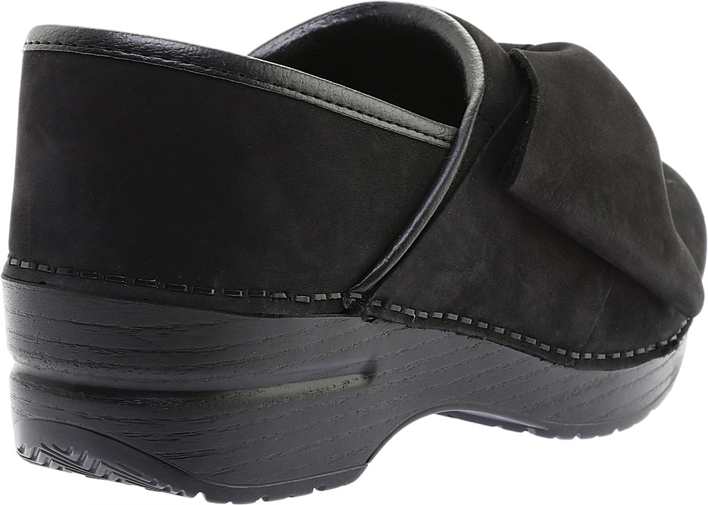Women's Dansko Pro Bow Clog, Black Milled Nubuck, large, image 4