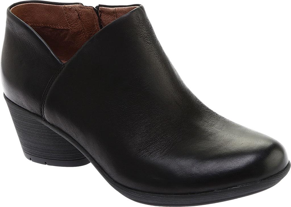 Women's Dansko Raina Ankle Boot, Black Burnished Nubuck, large, image 1