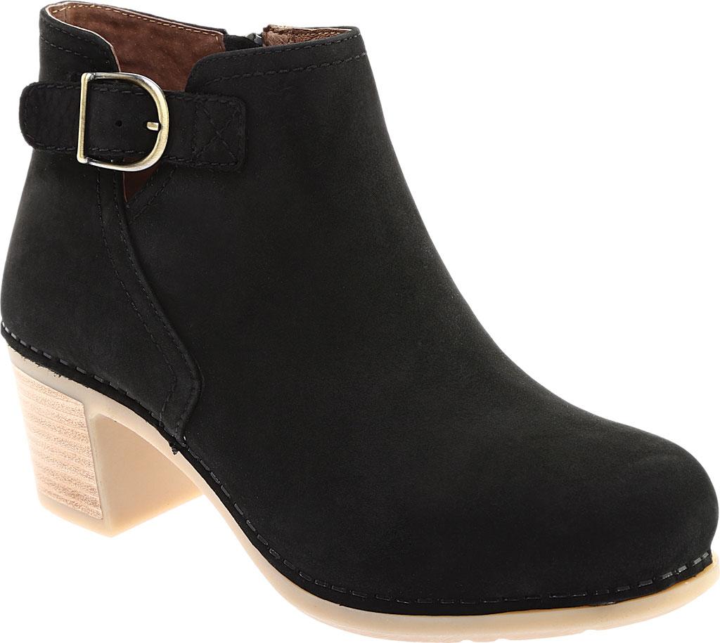 Women's Dansko Henley Ankle Boot, Black Nubuck, large, image 1