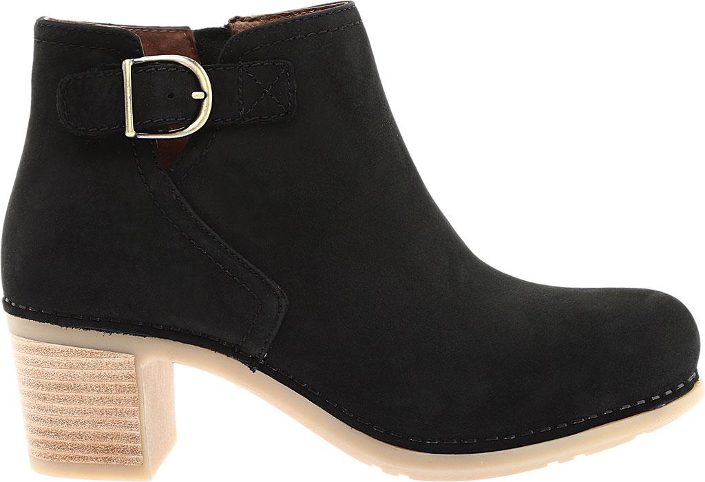 Women's Dansko Henley Ankle Boot, Black Nubuck, large, image 2