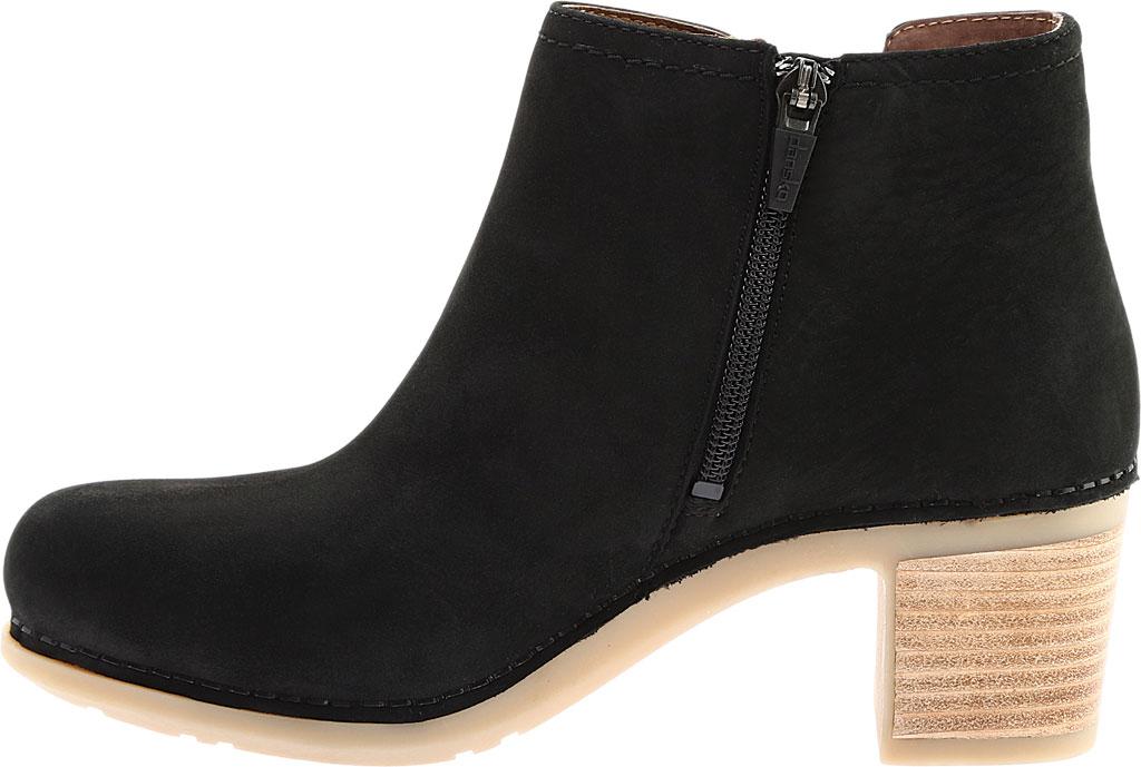Women's Dansko Henley Ankle Boot, Black Nubuck, large, image 3