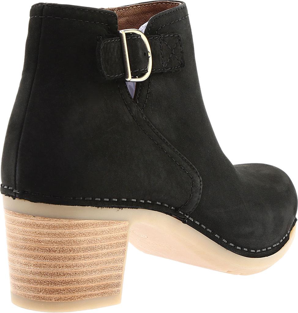 Women's Dansko Henley Ankle Boot, Black Nubuck, large, image 4