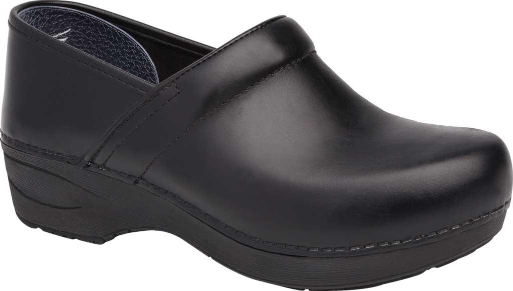 Women's Dansko XP 2.0 Clog, Black Pull Up Leather, large, image 1