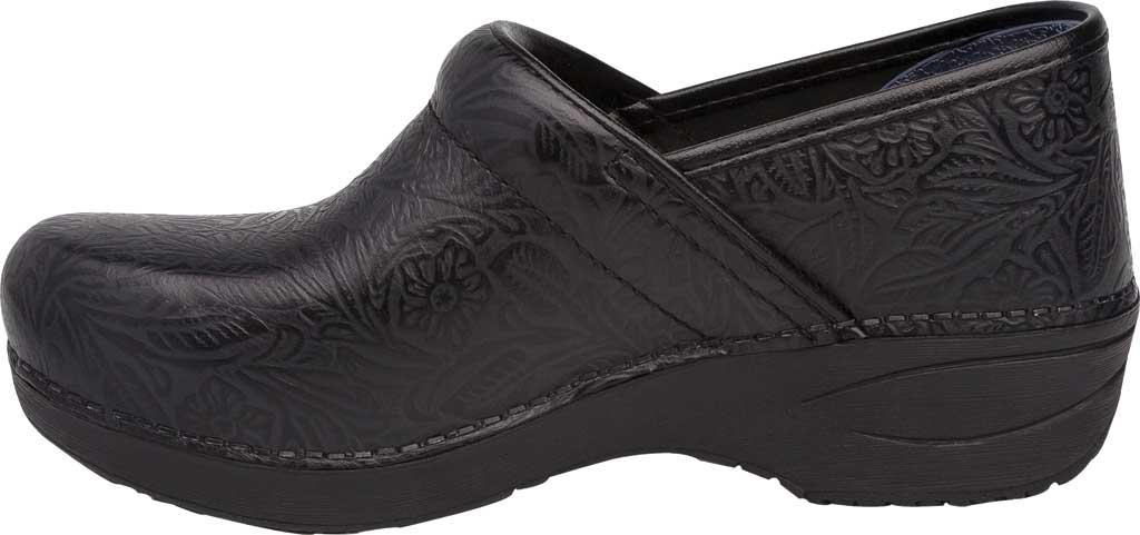 Women's Dansko XP 2.0 Clog, Black Floral Tooled Leather, large, image 2