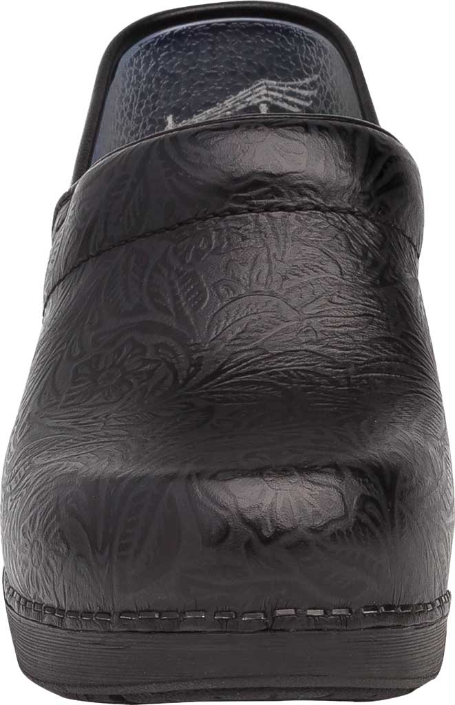 Women's Dansko XP 2.0 Clog, Black Floral Tooled Leather, large, image 3