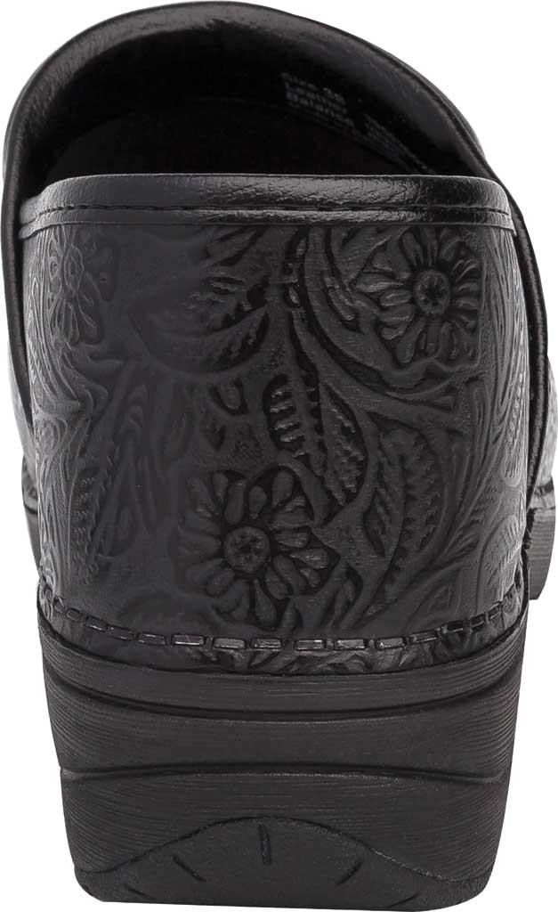 Women's Dansko XP 2.0 Clog, Black Floral Tooled Leather, large, image 4