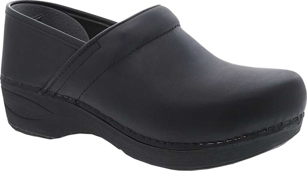 Women's Dansko XP 2.0 Clog, Black Waterproof Pull Up Leather, large, image 1