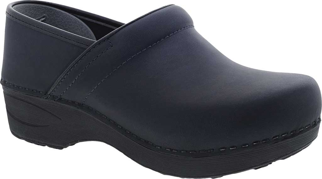 Women's Dansko XP 2.0 Clog, Navy Waterproof Pull Up Leather, large, image 1