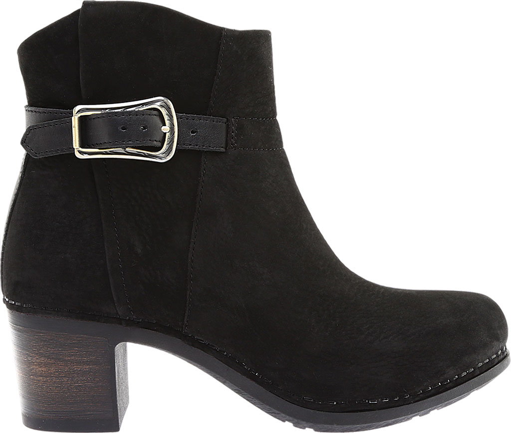 Women's Dansko Hartley Ankle Boot, Black Nubuck, large, image 2