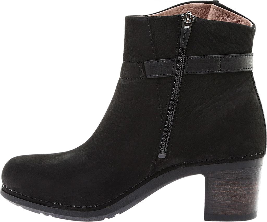 Women's Dansko Hartley Ankle Boot, Black Nubuck, large, image 3