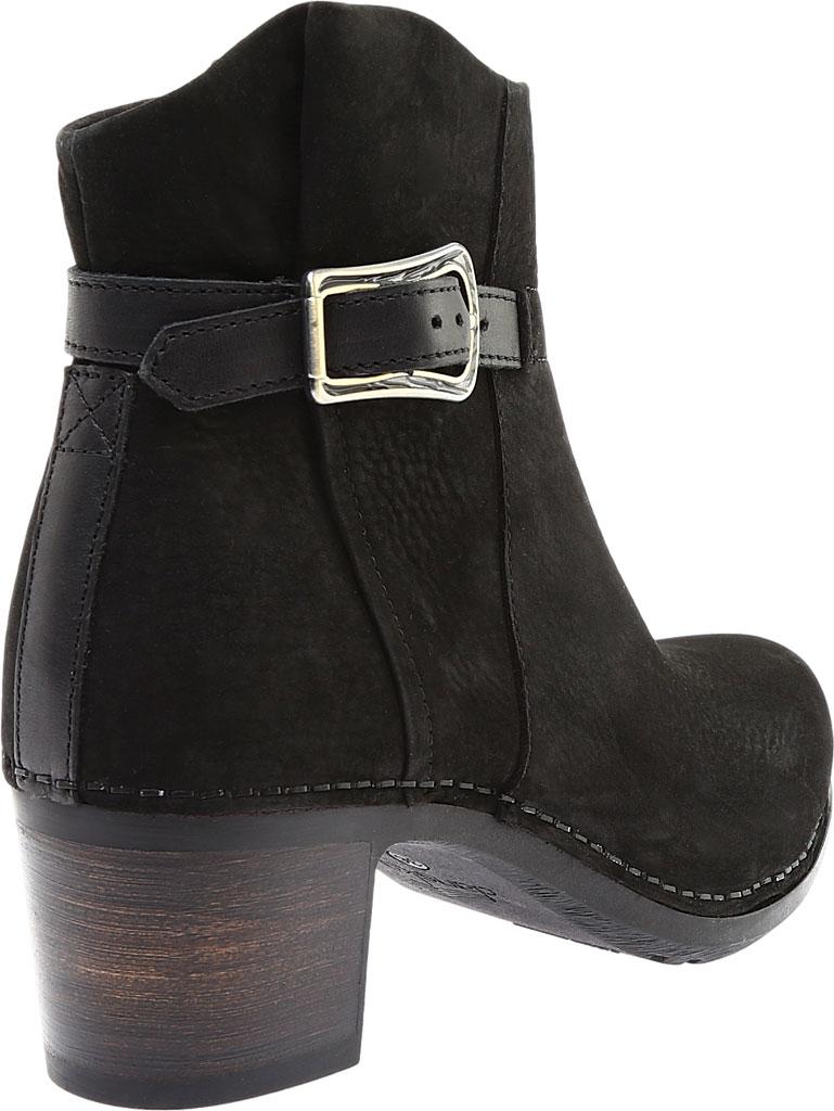 Women's Dansko Hartley Ankle Boot, Black Nubuck, large, image 4