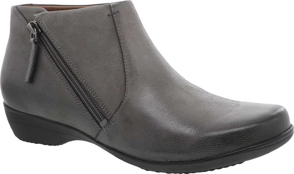 Women's Dansko Fifi Ankle Boot, Grey Burnished Nubuck, large, image 1