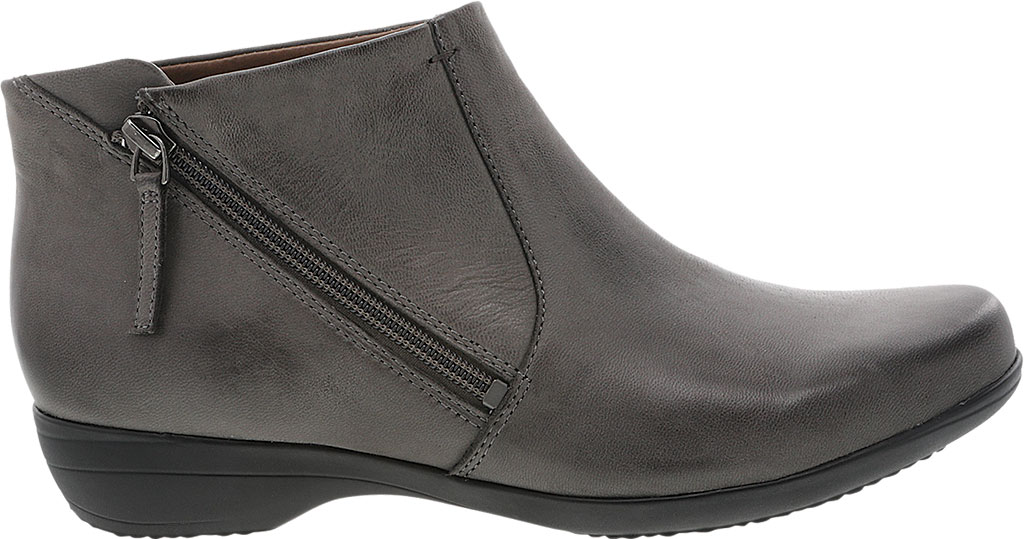 Women's Dansko Fifi Ankle Boot, Grey Burnished Nubuck, large, image 2