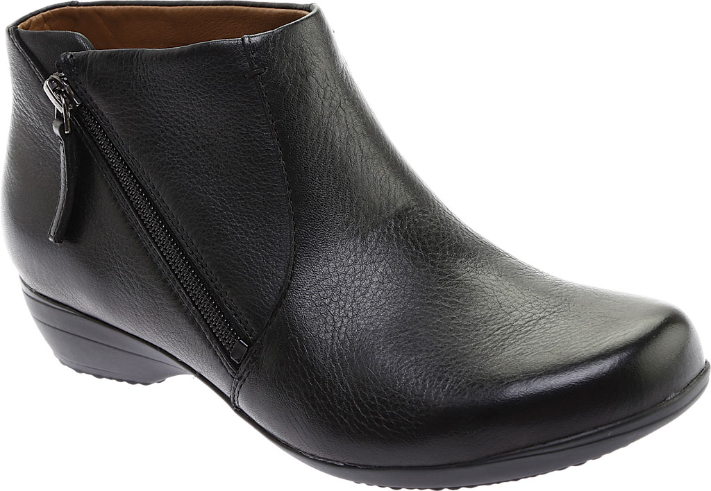 Women's Dansko Fifi Ankle Boot, Black Milled Nappa Leather, large, image 1