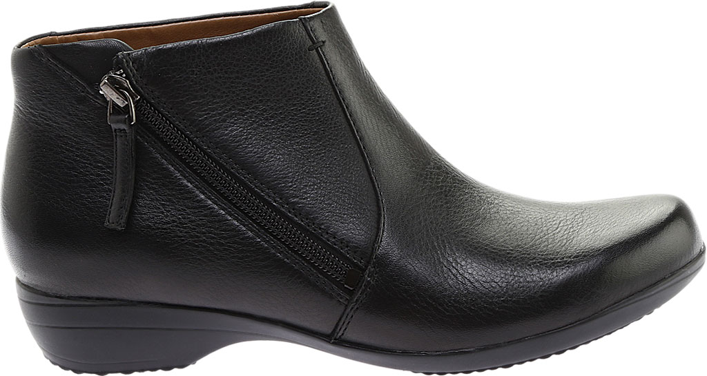 Women's Dansko Fifi Ankle Boot, Black Milled Nappa Leather, large, image 2