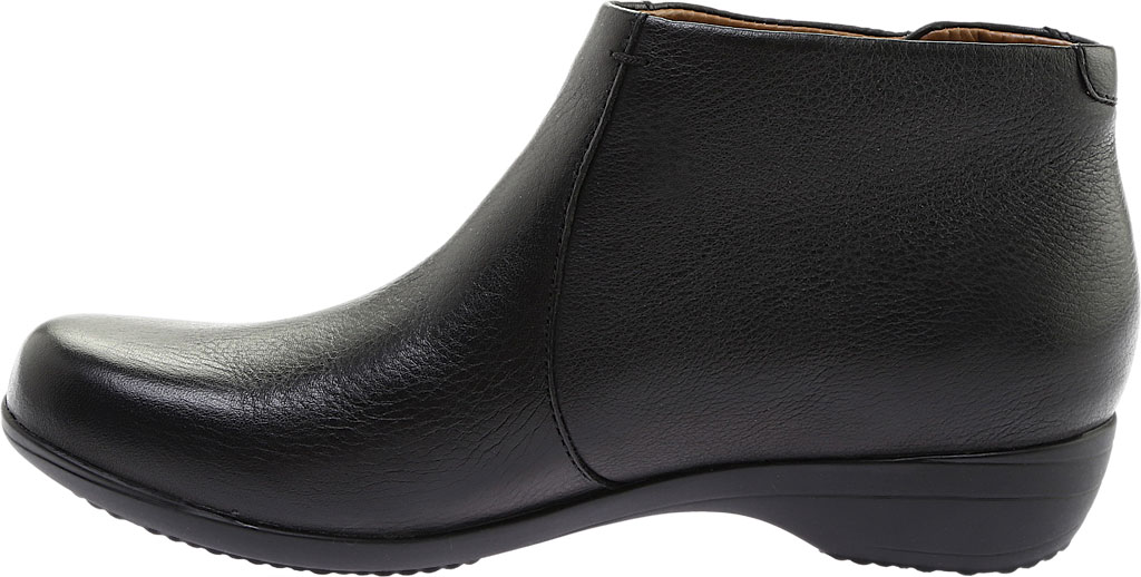 Women's Dansko Fifi Ankle Boot, Black Milled Nappa Leather, large, image 3