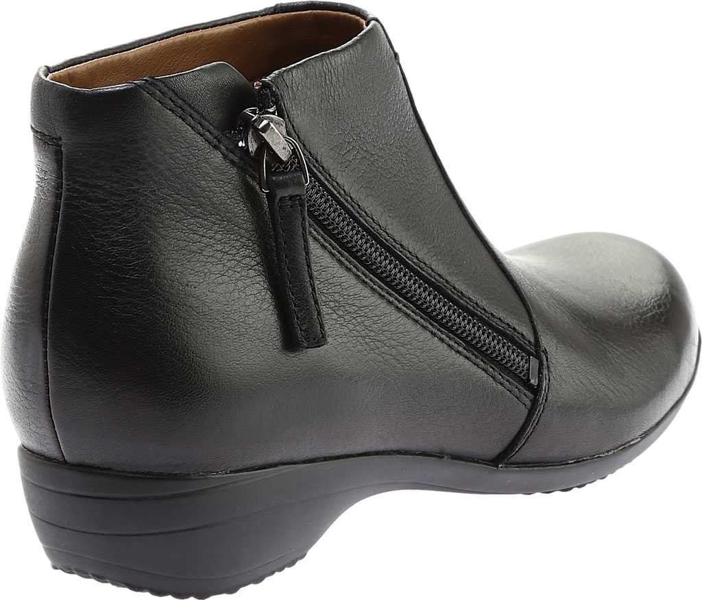 Women's Dansko Fifi Ankle Boot, Black Milled Nappa Leather, large, image 4