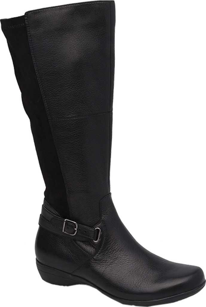 Women's Dansko Francesca Knee High Boot, Black Milled Nappa Leather, large, image 1