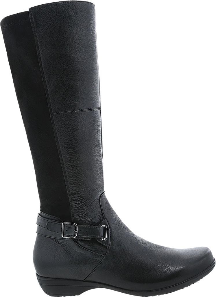 Women's Dansko Francesca Knee High Boot, Black Milled Nappa Leather, large, image 2