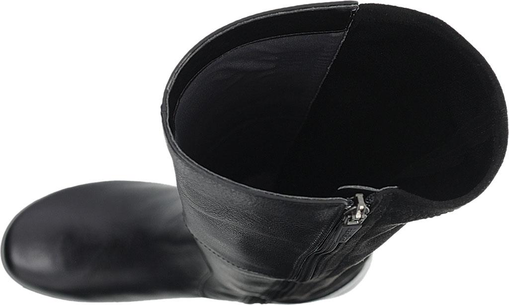 Women's Dansko Francesca Knee High Boot, Black Milled Nappa Leather, large, image 3