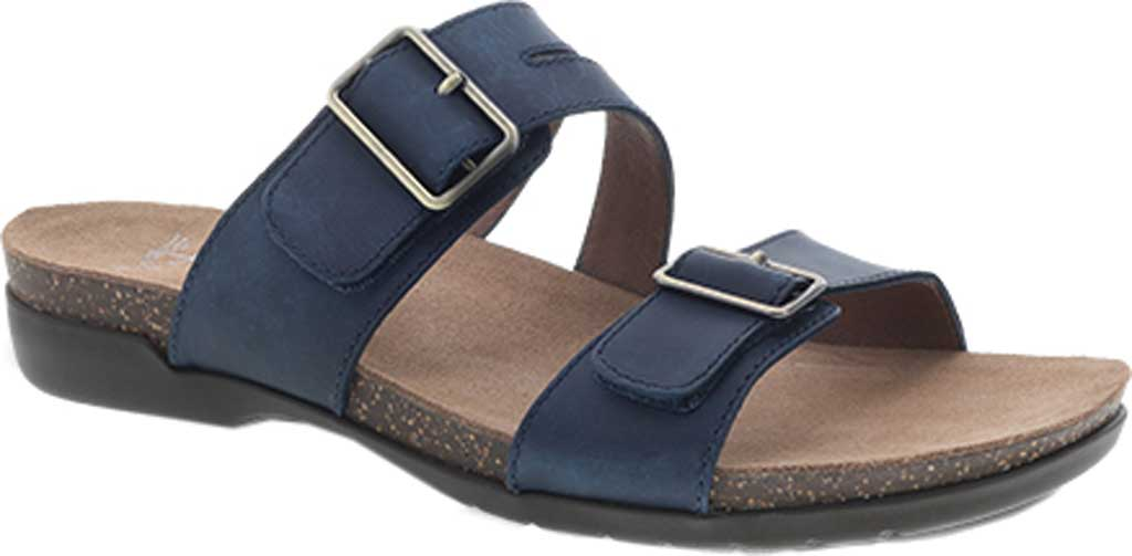 Women's Dansko Rosie Slide, Blue Oiled Pull Up, large, image 1