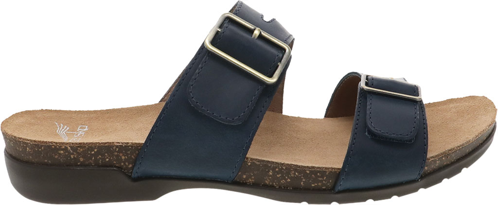 Women's Dansko Rosie Slide, Blue Oiled Pull Up, large, image 2