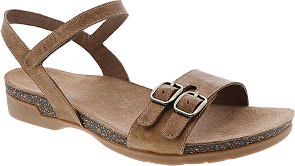 Women's Dansko Rebekah Ankle Strap Sandal, Tan Waxy Burnished Leather, large, image 1