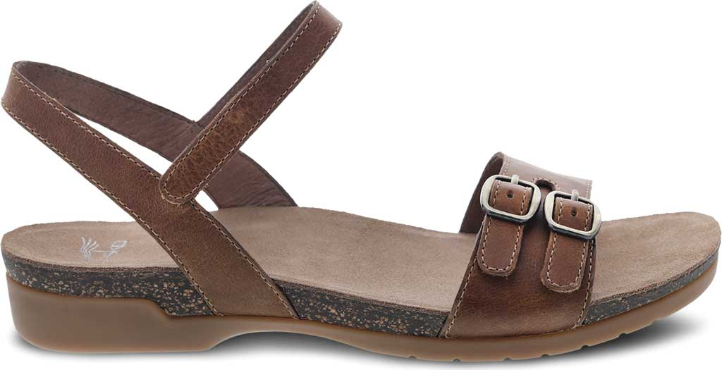 Women's Dansko Rebekah Ankle Strap Sandal, Tan Waxy Burnished Leather, large, image 2