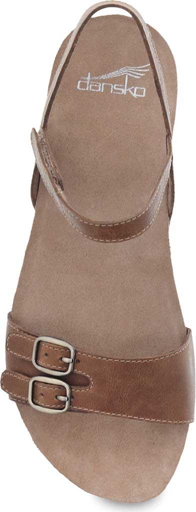 Women's Dansko Rebekah Ankle Strap Sandal, Tan Waxy Burnished Leather, large, image 3