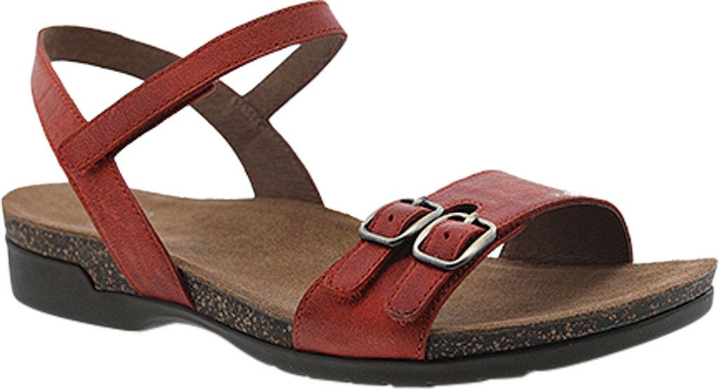 Women's Dansko Rebekah Ankle Strap Sandal, Coral Waxy Burnished Leather, large, image 1