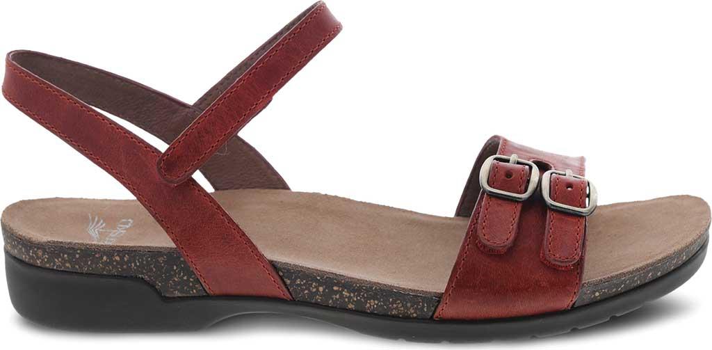 Women's Dansko Rebekah Ankle Strap Sandal, Coral Waxy Burnished Leather, large, image 2
