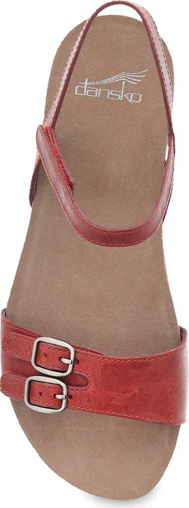 Women's Dansko Rebekah Ankle Strap Sandal, Coral Waxy Burnished Leather, large, image 3