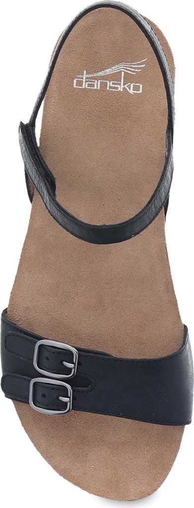 Women's Dansko Rebekah Ankle Strap Sandal, Black Waxy Burnished Leather, large, image 3