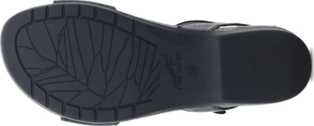 Women's Dansko Rebekah Ankle Strap Sandal, Black Waxy Burnished Leather, large, image 4