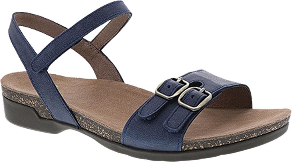 Women's Dansko Rebekah Ankle Strap Sandal, Navy Waxy Burnished Leather, large, image 1